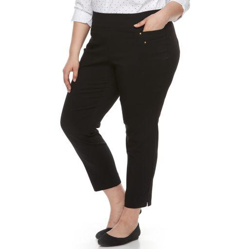 Plus Size Briggs Millennium Pull-On Ankle Pants