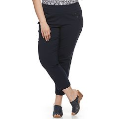 Plus Size Briggs Millennium Pull-On Ankle Pants