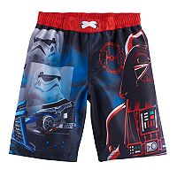 Boys 4-7 Star Wars Darth Vader & Stormtrooper UPF 50 Swim Trunks