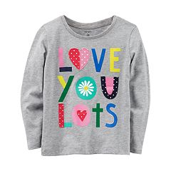 Toddler Girl Carter's 'Love You Lots' Embroidered Graphic Tee