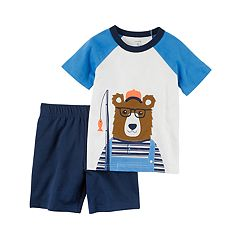 Toddler Boy Carter's 2 pc Fishing Bear Top & Shorts Set