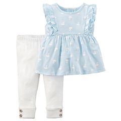 Baby Girl Carter's 2 pc Top & Leggings Set