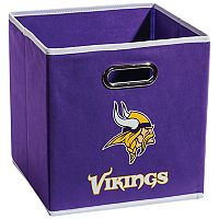 Franklin Sports Minnesota Vikings Collapsible Storage Bin