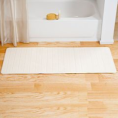 Portsmouth Home Memory Foam Striped Long Bath Mat