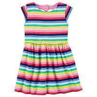 Toddler Girl Carter's Striped Heart Cut Out Dress