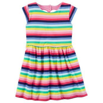 Toddler Girl Carter's Striped Heart Cut Out Dress