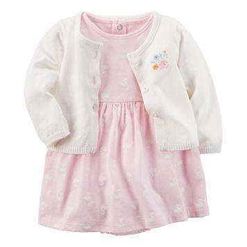Baby Girl Carter's 2-pc. Bodysuit Dress & Cardigan Set