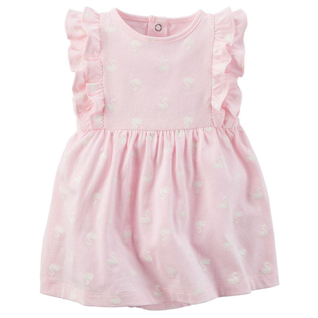 Baby Girl Carter's 2-pc Bodysuit Dress & Cardigan Set