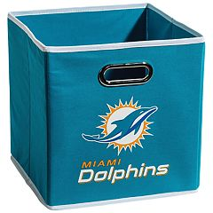 Franklin Sports Miami Dolphins Collapsible Storage Bin
