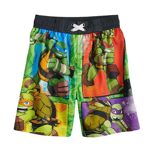 f16257b703a03 Boys 4-7 Teenage Mutant Ninja Turtles Swimming Trunks