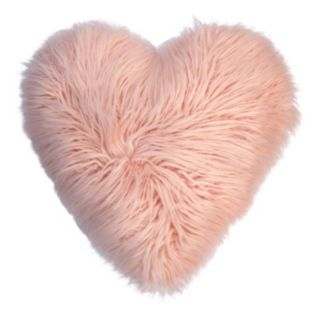 Celebrate Valentine's Day Together Heart Shaped Faux Fur Plush Back Throw Pillow