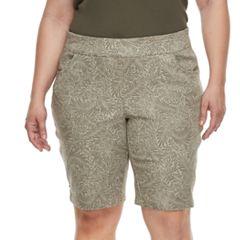 Plus Size Briggs Super Stretch Bermuda Shorts