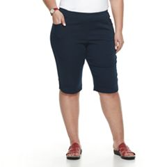 Plus Size Briggs Pull-On Bermuda Shorts