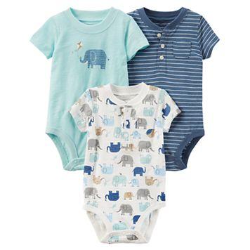 Baby Boy Carter's 3-pk. Short Sleeve Bodysuits