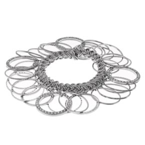 Pave Circle Shaky Stretch Bracelet