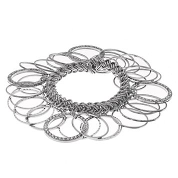 Pave Circle Shaky Stretch Bracelet
