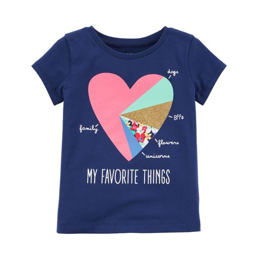 """Toddler Girl Carter's """"My Favorite Things"""" Graphic Tee"""