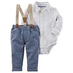 Baby Boy Carter's 3 pc Suspenders Set