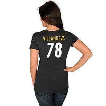 Women's Majestic Pittsburgh Steelers Alejandro Villanueva Tee