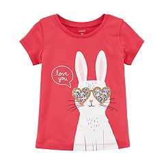 Toddler Girl Carter's 'Love You' Bunny Rabbit Graphic Tee