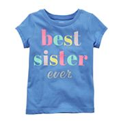 Toddler Girl Carter's 'Best Sister Ever' Graphic Tee