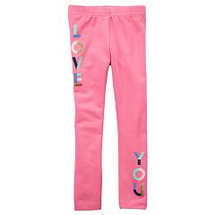 Toddler Girl Carter's 'Love You' Glitter Leggings