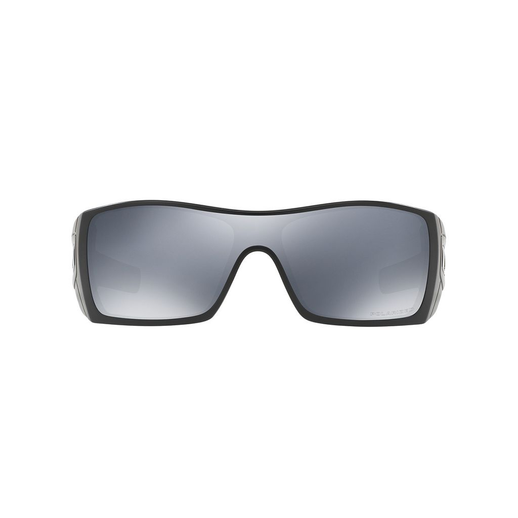 Oakley Batwolf OO9101 27mm Rectangle Black Iridium Polarized Sunglasses
