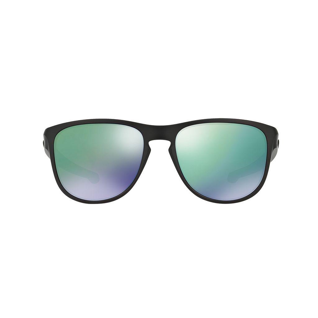 Oakley Sliver OO9342 57mm Round Jade Iridium Mirror Sunglasses