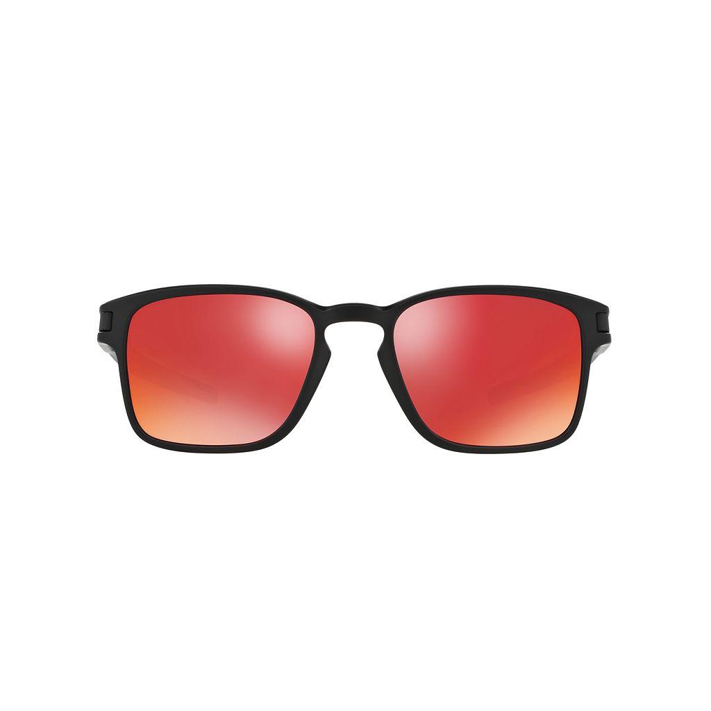 Oakley Latch OO9353 52mm Square Torch Iridium Mirror Sunglasses