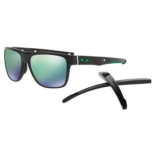5cbe8c4cc8 Oakley Crossrange XL OO9360 58mm Square Jade Iridium Mirror Sunglasses