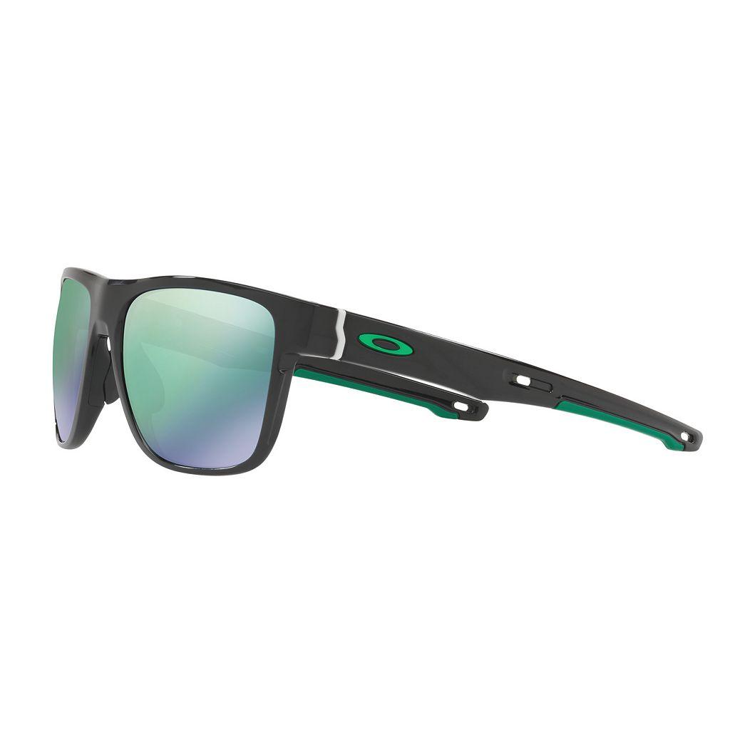 Oakley Crossrange XL OO9360 58mm Square Jade Iridium Mirror Sunglasses
