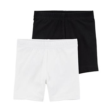 Toddler Girl Carter's 2-pk. Black & White Bike Shorts