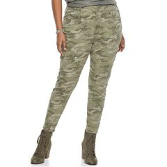 Juniors' Plus Size SO® High Rise Camo Jeggings