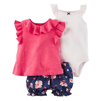 Baby Girl Carter's Floral Diaper Cover Set