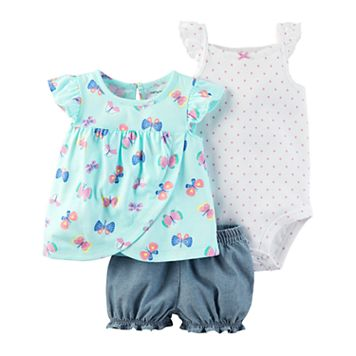 Baby Girl Carter's Butterfly Diaper Cover Set