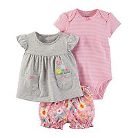 Baby Girl Carter's 3 pc Diaper Cover Set