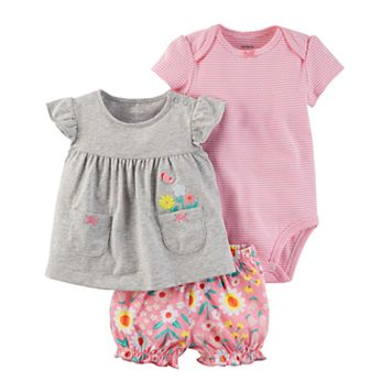 Baby Girl Carter's 3-pc. Diaper Cover Set