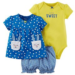 Baby Girl Carter's Bunny Diaper Cover Set