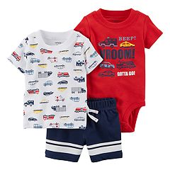 Baby Boy Carter's 3 pc Car Diaper Cover Set