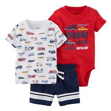 Baby Boy Carter's 3-pc. Car Diaper Cover Set