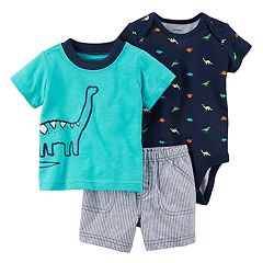 Baby Boy Carter's 3 pc Dinosaur Diaper Cover Set