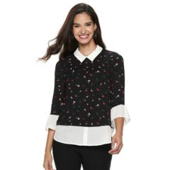 Womens Elle Shirts Blouses Tops Clothing Kohl S