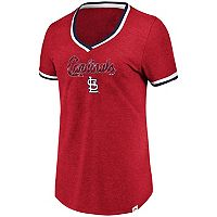 Women's Majestic Cleveland Indians Stripe Trim Tee