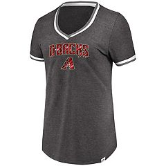 Women's Majestic Arizona Diamondbacks Stripe Trim Tee