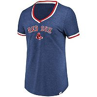 Women's Majestic Boston Red Sox Stripe Trim Tee