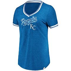 Women's Majestic Kansas City Royals Stripe Trim Tee