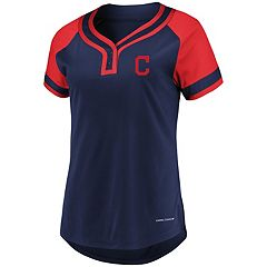 Women's Majestic Cleveland Indians Snap Top
