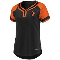 Women's Majestic Baltimore Orioles Snap Top