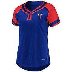 Women's Majestic Texas Rangers Snap Top
