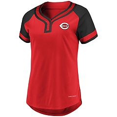 Women's Majestic Cincinnati Reds Snap Top